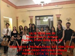 Concerto vincitori Concorso 16-6-2019