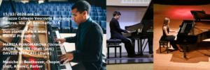 Recital Pianistico, MARIIA PONOMAROVA (Ucraina), ANDRÈ SHORT (Stati Uniti),  DAVIDE MARCATI (Italia)