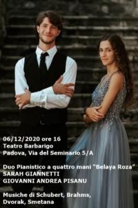 Duo Pianistico Giannetti-Pisanu, 6-12-2020