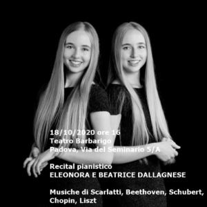 Eleonora e Beatrice Dallagnese, 18-10-2020